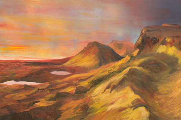 Jeremy Rossiter ART | Sunrise on the Trotternish Ridge